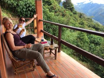 """Apéro sur notre terrasse de l'hôtel """"El cafetal"""""""