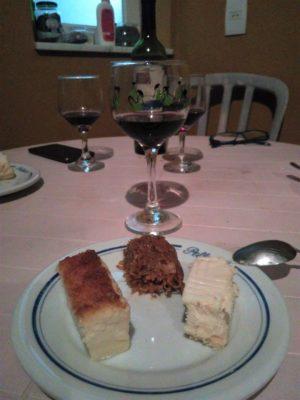 Dessert et vin argentin chez Joana