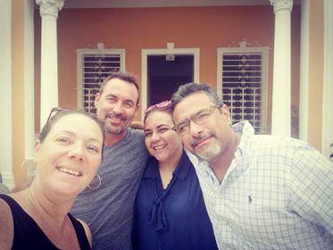 selfie avec nos hôtes de Carthagène
